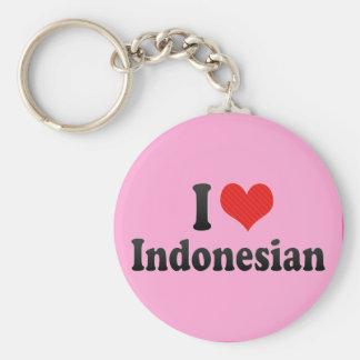 Amo indonesio llavero personalizado