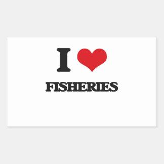 AMO industrias pesqueras Rectangular Pegatina