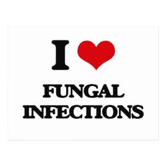 Amo infecciones por hongos tarjetas postales