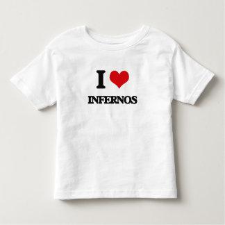 Amo infiernos t-shirts