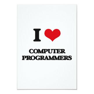 "Amo informáticos invitación 3.5"" x 5"""