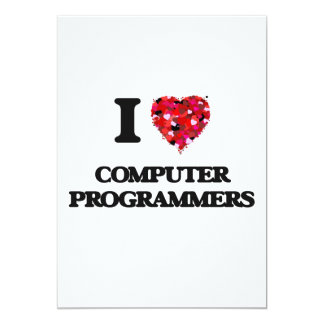 "Amo informáticos invitación 5"" x 7"""