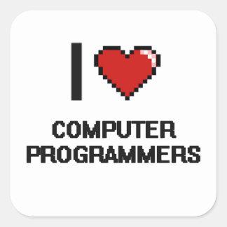 Amo informáticos pegatina cuadrada