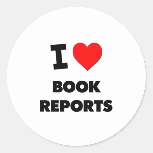 Amo informes del libro pegatina redonda