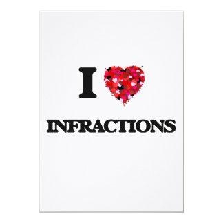 """Amo infracciones invitación 5"""" x 7"""""""