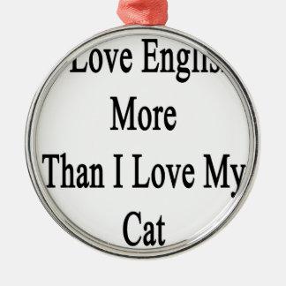 Amo inglés más que amor de I mi gato Adorno Navideño Redondo De Metal