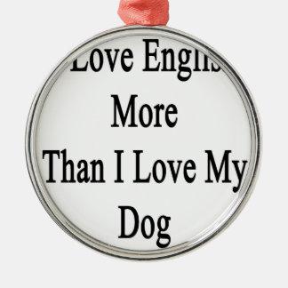 Amo inglés más que amor de I mi perro Adorno Navideño Redondo De Metal