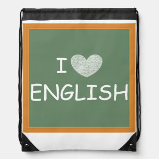 Amo inglés mochilas