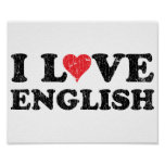 Amo inglés poster