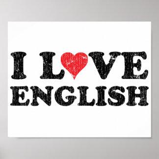 Amo inglés póster