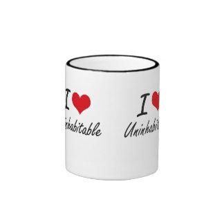 Amo inhabitable taza de dos colores