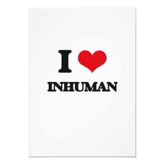 Amo inhumano invitación 12,7 x 17,8 cm