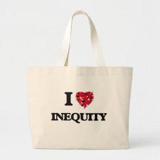 Amo injusticia bolsa tela grande