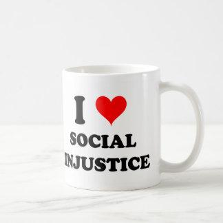 Amo injusticia social tazas