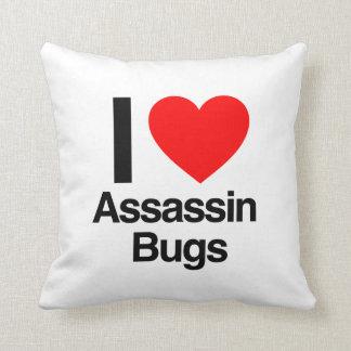 amo insectos de asesino cojines