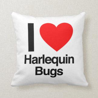 amo insectos del harlequin cojines