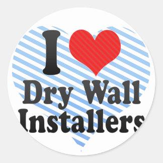 Amo instaladores de la pared seca etiquetas