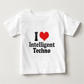 Amo inteligente+Techno Playeras
