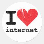 Amo Internet Etiquetas Redondas