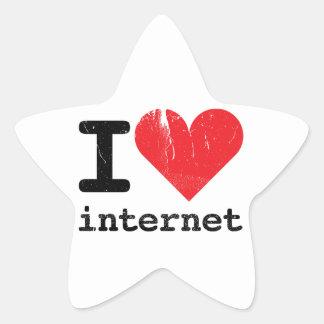 Amo Internet Pegatina En Forma De Estrella