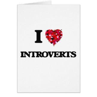 Amo Introverts Tarjeta De Felicitación