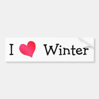 Amo invierno pegatina para auto