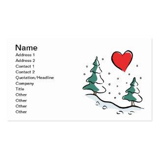 Amo invierno tarjetas de visita
