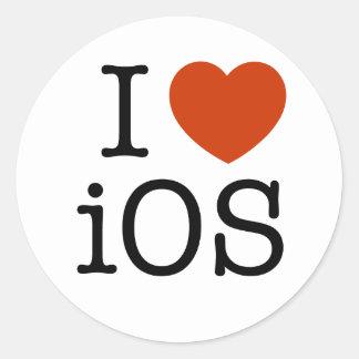 Amo IOS - pegatina