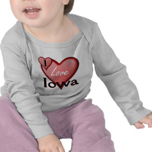 Amo Iowa Camiseta