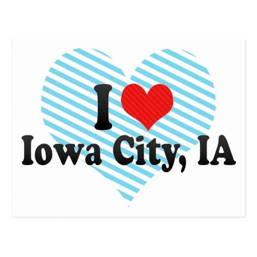 Amo Iowa City, IA Tarjetas Postales