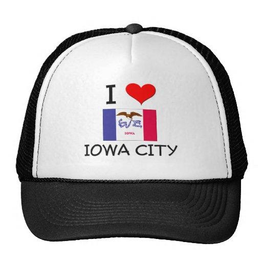 Amo IOWA CITY Iowa Gorros Bordados