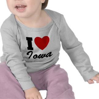 Amo Iowa Camisetas