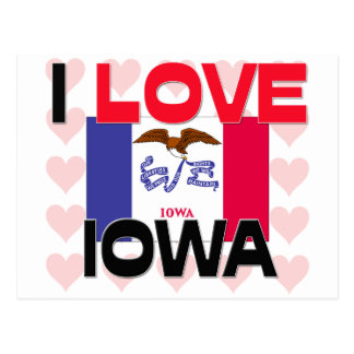Amo Iowa Tarjetas Postales