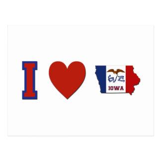 Amo Iowa Tarjeta Postal