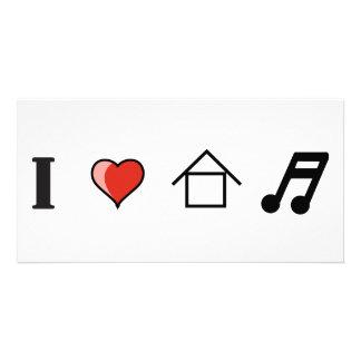 Amo ir de discotecas del club de la música de la c tarjetas fotográficas