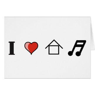 Amo ir de discotecas del club de la música de la c tarjeta de felicitación