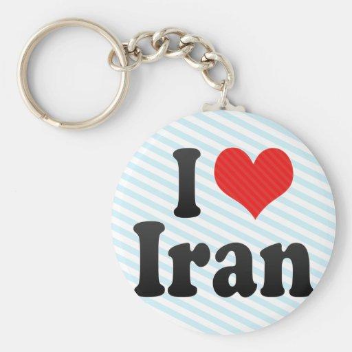 Amo Irán Llavero Personalizado