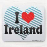 Amo Irlanda Alfombrillas De Ratones