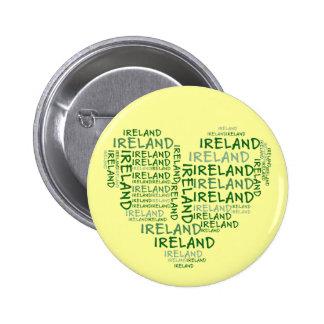 Amo Irlanda con todo mi corazón (las palabras simb Pin Redondo 5 Cm