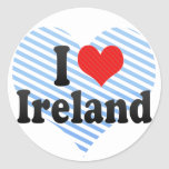 Amo Irlanda Etiqueta Redonda