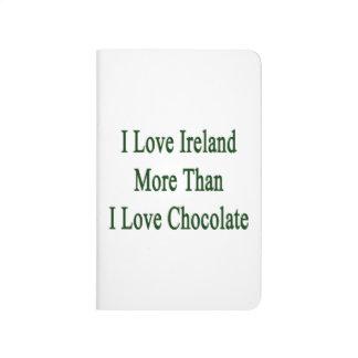 Amo Irlanda más que el chocolate del amor de I Cuaderno