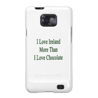Amo Irlanda más que el chocolate del amor de I Samsung Galaxy SII Carcasas
