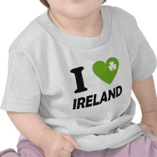 Amo Irlanda Camisetas
