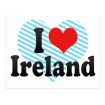 Amo Irlanda Tarjeta Postal