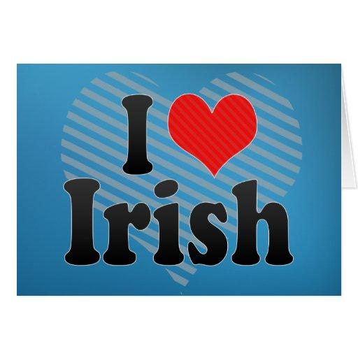 Amo irlandés tarjeta de felicitación