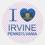 Amo Irvine, PA Pegatina Redonda