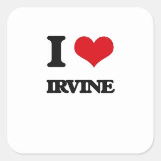 Amo Irvine Pegatina Cuadrada