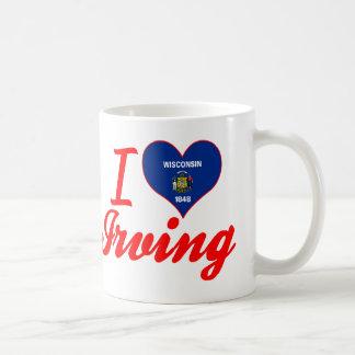Amo Irving, Wisconsin Taza Básica Blanca