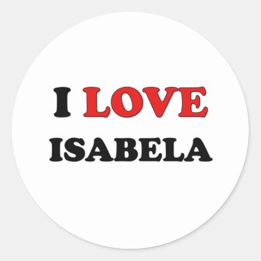 Amo Isabela Pegatina Redonda