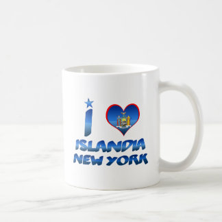 Amo Islandia, Nueva York Taza Básica Blanca